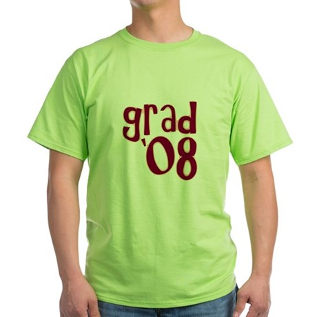Grad 08 - Brick Red - Green T-Shirt