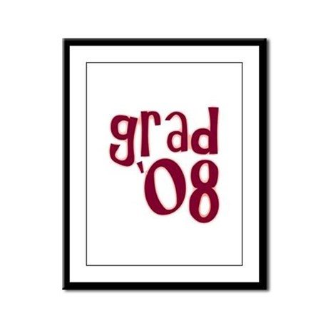 Grad 08 - Brick Red - Framed Panel Print