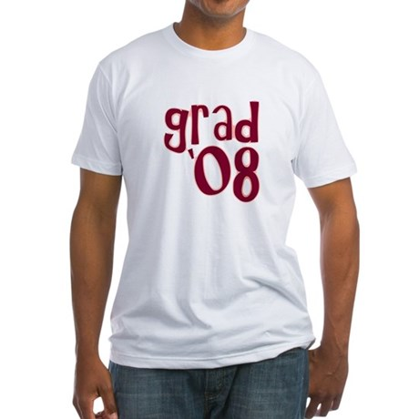 Grad 08 - Brick Red - Fitted T-Shirt