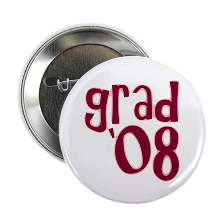 "Grad 08 - Brick Red - 2.25"" Button (10 pack)"