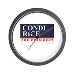 Condi RIce for President Wall Clock