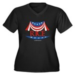 Rice Women's Plus Size V-Neck Dark T-Shirt