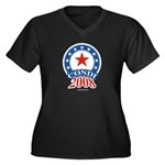 Condi 2008 Women's Plus Size V-Neck Dark T-Shirt