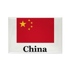 China Flag Rectangle Magnet (100 pack)