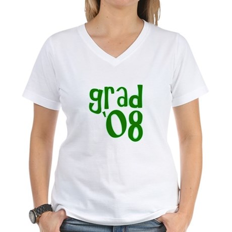 Grad 08 - Green - Women's V-Neck T-Shirt