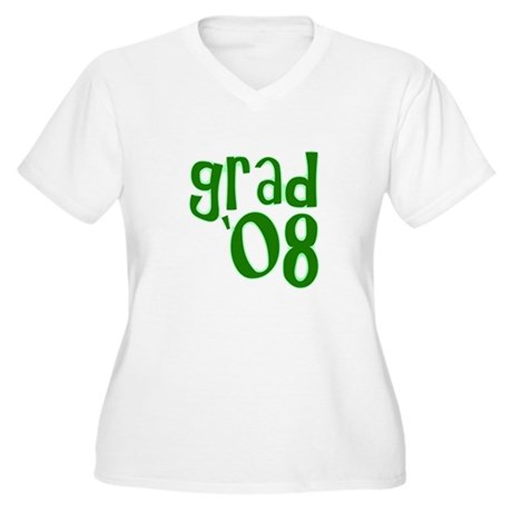 Grad 08 - Green - Women's Plus Size V-Neck T-Shir