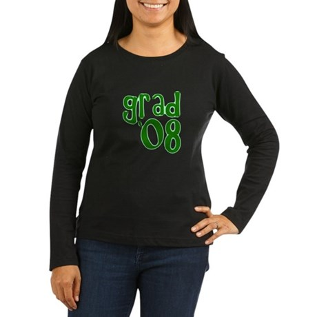 Grad 08 - Green - Women's Long Sleeve Dark T-Shir