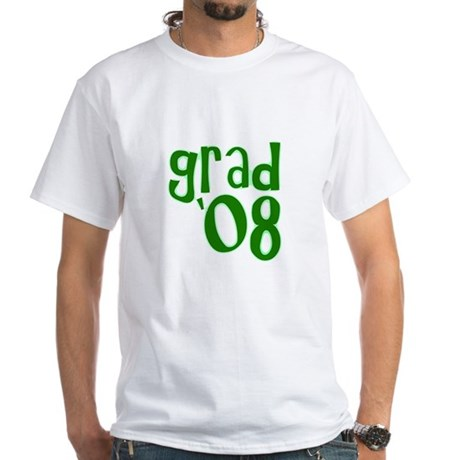 Grad 08 - Green - White T-Shirt