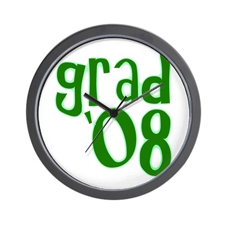 Grad 08 - Green - Wall Clock