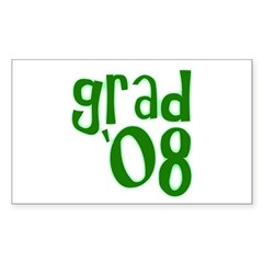 Grad 08 - Green - Rectangle Sticker