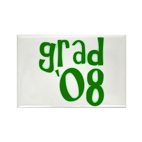 Grad 08 - Green - Rectangle Magnet