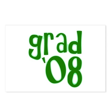 Grad 08 - Green - Postcards (Package of 8)
