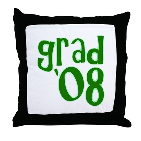 Grad 08 - Green - Throw Pillow