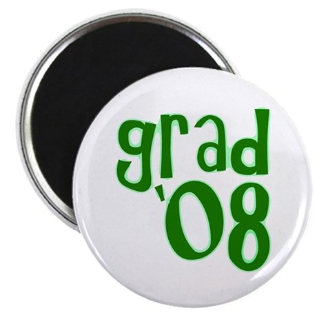 "Grad 08 - Green - 2.25"" Magnet (10 pack)"