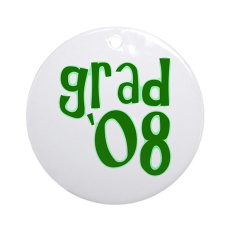 Grad 08 - Green - Ornament (Round)