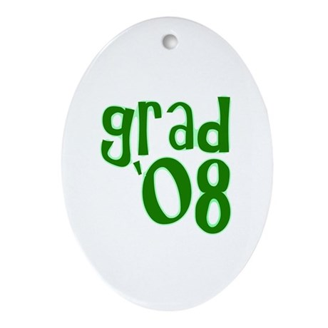 Grad 08 - Green - Oval Ornament