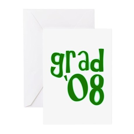 Grad 08 - Green - Greeting Cards (Pk of 20)