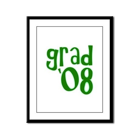 Grad 08 - Green - Framed Panel Print