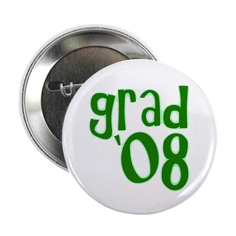 "Grad 08 - Green - 2.25"" Button (10 pack)"