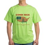 Condi Rice for President Green T-Shirt