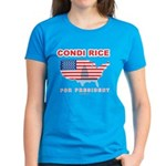 Condi Rice for President Women's Dark T-Shirt
