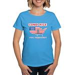 Condi Rice for President Women's Dark T-Shirt