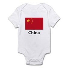 China Flag Infant Bodysuit