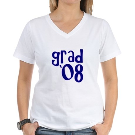 Grad 08 - Purple - Women's V-Neck T-Shirt
