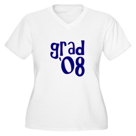 Grad 08 - Purple - Women's Plus Size V-Neck T-Shi