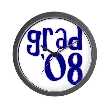 Grad 08 - Purple - Wall Clock