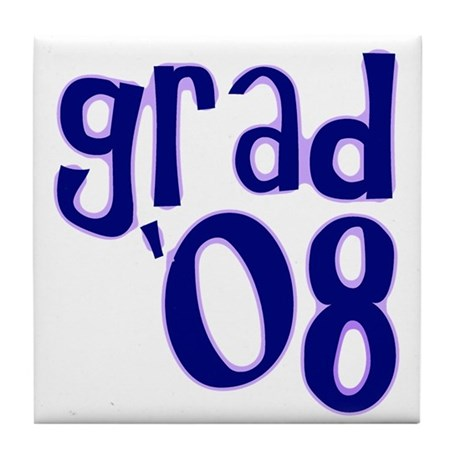 Grad 08 - Purple - Tile Coaster