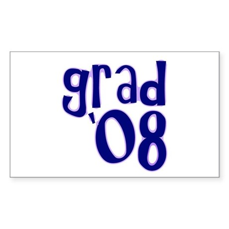 Grad 08 - Purple - Rectangle Sticker