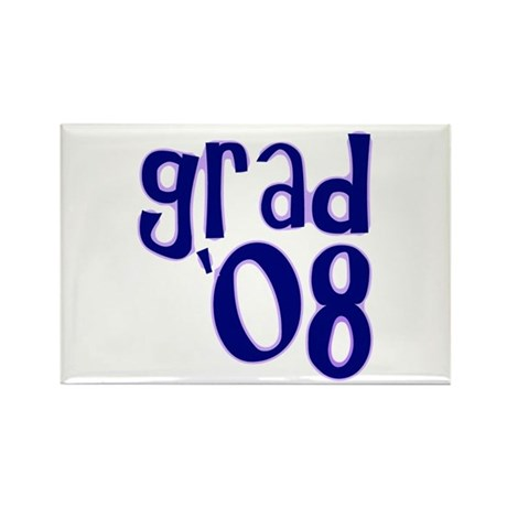 Grad 08 - Purple - Rectangle Magnet