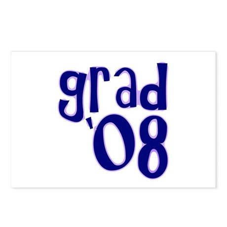 Grad 08 - Purple - Postcards (Package of 8)