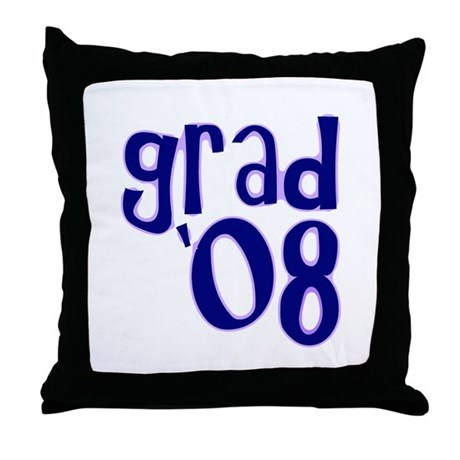 Grad 08 - Purple - Throw Pillow