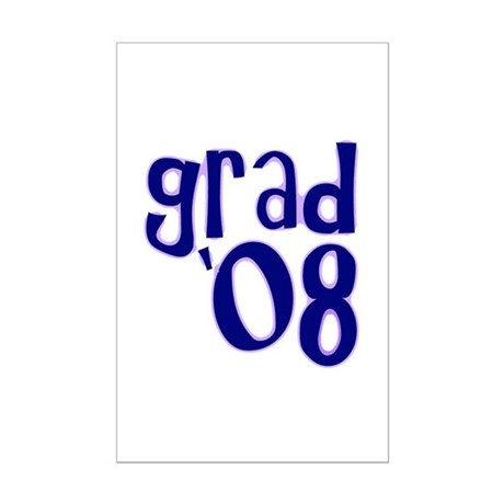 Grad 08 - Purple - Mini Poster Print