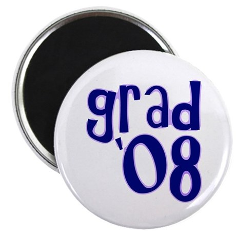 "Grad 08 - Purple - 2.25"" Magnet (100 pack)"