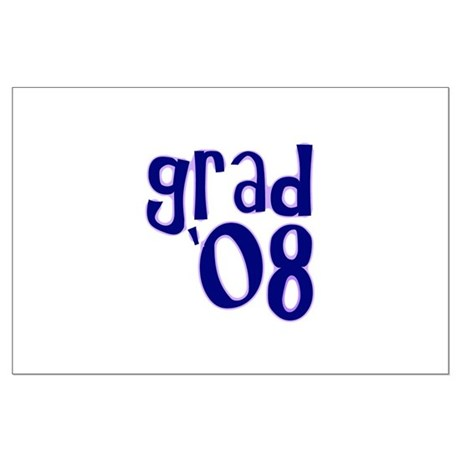 Grad 08 - Purple - Large Poster