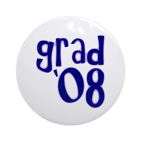 Grad 08 - Purple - Ornament (Round)