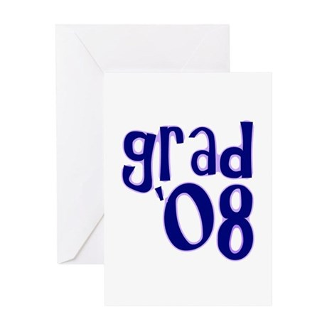Grad 08 - Purple - Greeting Card
