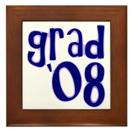 Grad 08 - Purple - Framed Tile