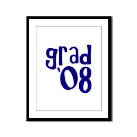 Grad 08 - Purple - Framed Panel Print
