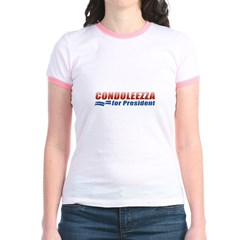 Condoleezza for President Jr. Ringer T-Shirt