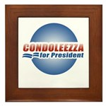 Condoleezza for President Framed Tile
