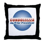 Condoleezza for President Throw Pillow