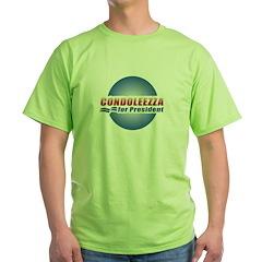 Condoleezza for President Green T-Shirt