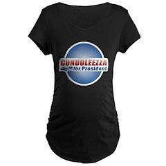 Condoleezza for President Maternity Dark T-Shirt