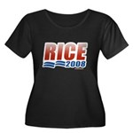 Rice 2008 Women's Plus Size Scoop Neck Dark T-Shir
