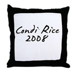 Condi Rice Autograph Throw Pillow