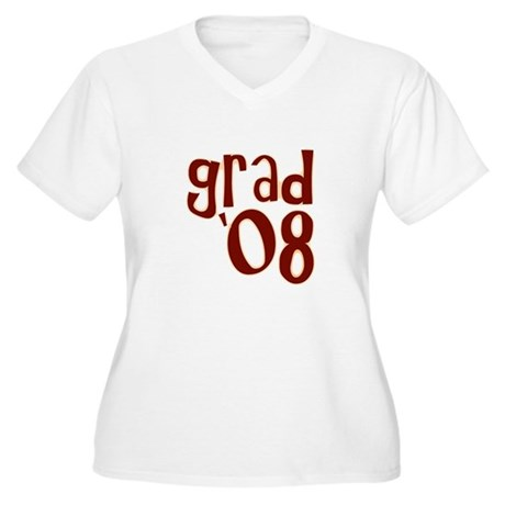 Grad 08 - Brown - Women's Plus Size V-Neck T-Shir